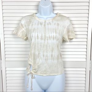 NWT Aerie Tie Dye Tee With Keyhole Design XS